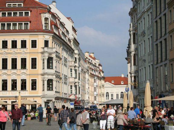 Blick in die Rampische Straße vom Neumarkt aus
