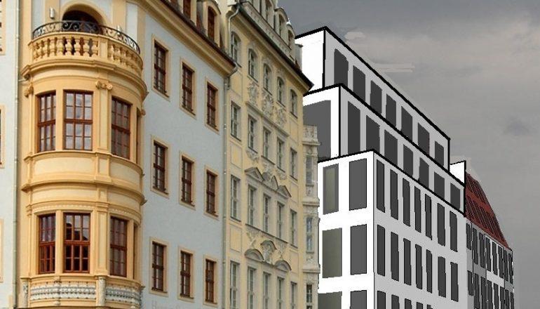 """Pressemitteilung: Der Klotz """"Moritzhaus"""" im Quartier V-1 – eine Provokation in Beton"""