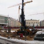 """Aushebung der Baugrube für das """"Moritzhaus"""""""