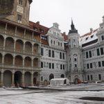Nordöstliche Ecke des Schlosshofes