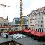 Blick auf den Jüdenhof mit dem Quartier VI im Bau