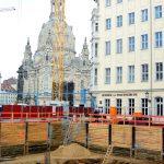 Baugrube QV-1 mit Frauenstraße und Frauenkirche