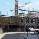 Quartier VI hinter dem Kulturpalast. Langsam wird eine neue räumliche Situation erkennbar.