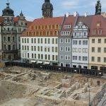 Blick aus dem Kulturpalast auf das neu zu errichtende Quartier VII-1