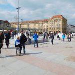 Blick vom Vorplatz Kulturpalast auf den Altmarkt