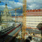Blick aus dem Kulturpalast auf die Bauquartiere VI und V-1