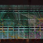Multimedia-Projektion an die Glasfassade des Kulturpalastes