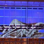 Mediale Inszenierung an der Fassade des Kulturpalastes zur Eröffnungsfeier