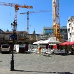 Jüdenhof und Baustelle QVI mit dem Wiederaufbau des Regimenthauses
