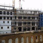 Blick vom Johanneum auf den Jüdenhof und die Baustelle vom Quartier VI (USD)