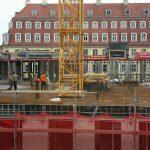 Blick auf die Baustelle vom Quartier V-1 (KIB-Projekt)