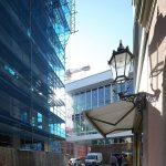 Blick von der Galeriestraße Richtung Kulturpalast (links im Bild Baustelle QVI von USD)