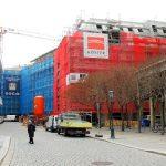 Galeriestraße am Kulturpalast: die beiden neuen Quartiere V-1 und VI sind mit dem Rohbau fast fertig gestellt.