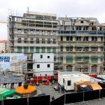 Blick auf die USD-Baustelle Palais City One