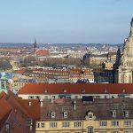 Blick von der Kreuzkirche Richtung Neumarkt und Königsufer