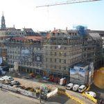 """Blick auf das neue """"City Palais One"""" der USD und dem Blobeleckhaus"""