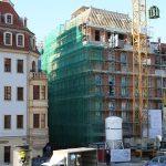 """Richtfest vom """"Au petit bazar"""" (Kleines Kaufhaus) - jetzt Wiederaufbau als Wohnhaus und Galerie von Günter Blobel"""