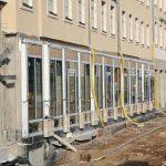 Rekonstruierte Ladengalerie des ehemaligen Hofjuweliers Elimeyer von Gottfried Semper im Bau