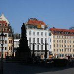Blick auf das Quartier VI und die Frauenstraße