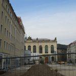 Quartier VI und das künftig begrünte ehemalige Gewandhausareal