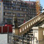 Englische Treppe vom Johanneum und Baustelle Quartier VI (Leitbau Regimentshaus)