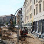 Arbeiten am grünen Wandelgang zum Neumarkt (Rehwaldt Landschaftsarchitekten)