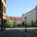 Frieseneck (links im Bild) und künftige Baustelle vom Palais Hoym