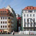 Heinrich-Schütz-Haus und Baustelle des Blobel-Gebäudes