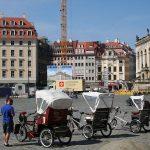 Fahrrad-Rikschas auf dem Neumarkt