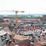 Blick vom Schlossturm auf die neuen Quartiere zwischen Neumarkt und Schlossstraße