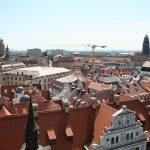 Panorama-Blick vom Schlossturm Richtung Neumarkt und Frauenkirche