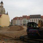 Auch im Quartier III-2 tut sich mittlerweile endlich was: Vorbereitungen zum Aushub der Baugrube