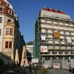 Neumarkt mit Einmündung zur Frauengasse mit Baustelle Blobelhaus
