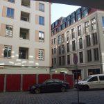 Blick auf das Chiapponische Haus, das Moritzhaus und die Einmündung in die Frauenstraße