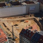 Zustand der Baugrube im Quartier III-2 (Bauherr: CG-Gruppe)