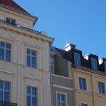 Neu ausgeformter Balkon am Blobelhaus