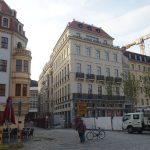 Beim Blobelhaus wurden, wie in der gesamten Frauenstraße, die Baugerüste abgenommen.