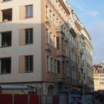 Blick in die Frauenstraße mit dem Chiabonischen Haus als neue Ecklösung