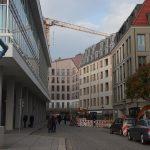 Galeriestraße mit den neuen Gebäuden von Quartier VI und V-1