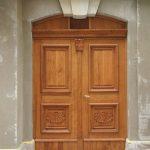 Rekonstruierte Holztür vom Dinglingerhaus (Frauenstraße)