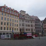 Jüdenhof mit dem Quartier VI: eine Leitfassade, ein Leitbau (Regimentshaus) und ein Neubau