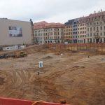Zustand Baugrube im Quartier III-2 (u.a. Palais Hoym) der CG-Gruppe