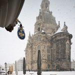 Frauenkirche im Schnee