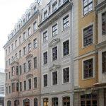 Frauenstraße Richtung Kulturpalast mit dem neuen Eckbau Chiapponisches Haus