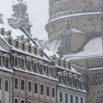 Winterimpression Dächer Quartier I und Frauenkirchenkuppel