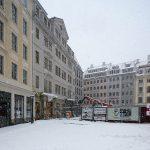 Jüdenhof mit dem fast fertig gestellten Quartier VI