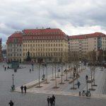 Blick auf den neuen Grün-Raum mit den Platanen