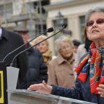 Eveline Eaton (Vorsitzende des Dresden-Trust) während ihrer Rede, Foto: Rita Alpen