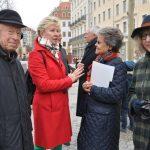 Dresdens Oberbürgermeisterin a.D. Helma Orosz im Gespräch mit Eveline Eaton