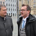 GHND-Vorsitzender Torsten Kulke und Baubürgermeister Raoul Schmidt-Lamontain